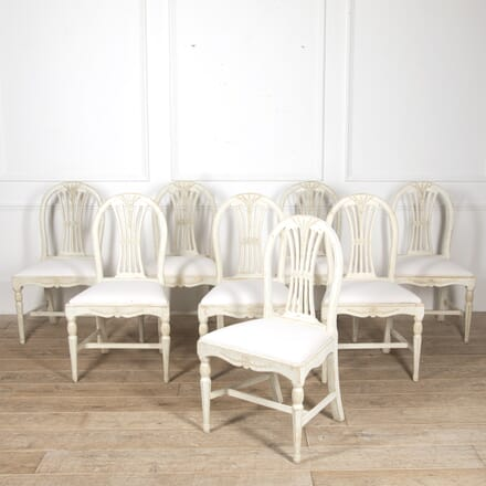 Collection of Eight 19th Century Dining Chairs CD4417060