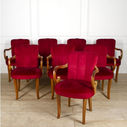 Set of Eight Velvet Chairs CH2017778