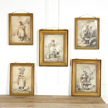 Collection of Five Pencil Drawings WD5117775