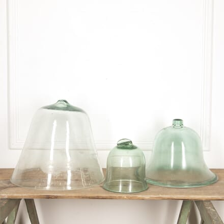 Collection of Green Glass Cloches DA2016268