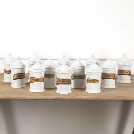 Collection of 12 Pharmacy Jars DA6016975