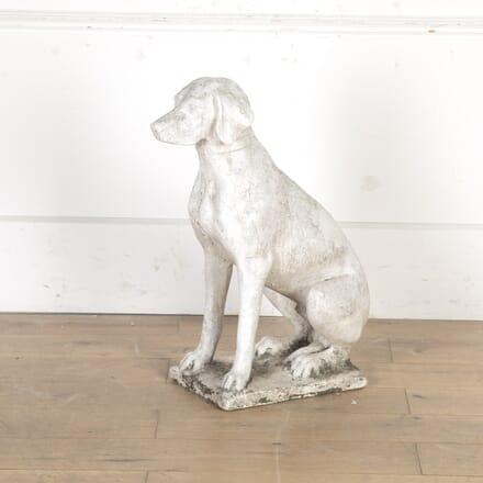 Composite Marble Dog Statue GA3616417
