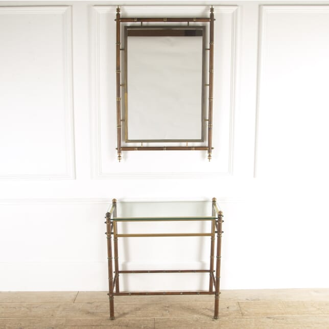 Faux Bamboo Console and Mirror CO3014420