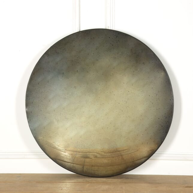 Contemporary Convex Mirror with Aged Plate MI639049