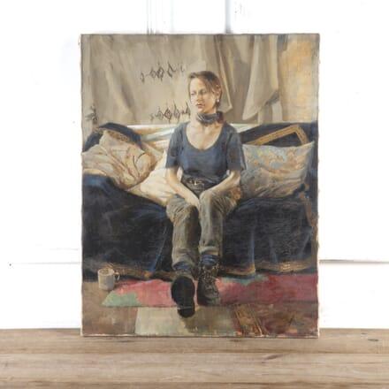 Contemporary Oil on Canvas Portrait WD8016664