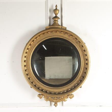 19th Century Gilt Convex Mirror MI1015622