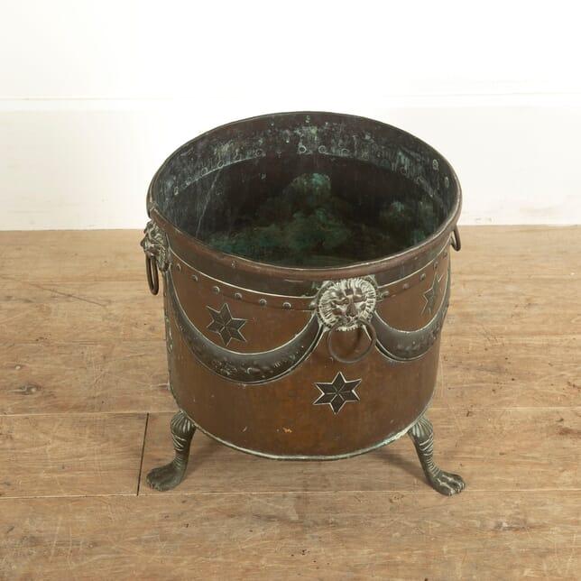 Copper and Brass Coal Bin GA1311466