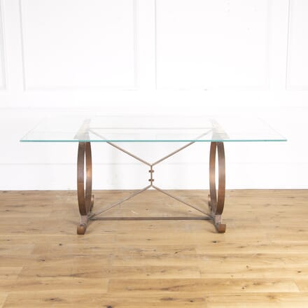 Copper and Glass Dining Table TC8914319