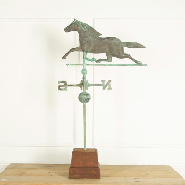 Copper Horse Weathervane GA159075
