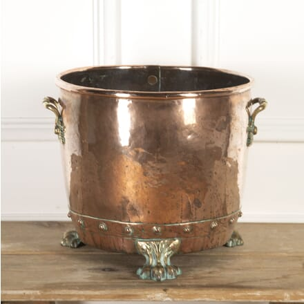 20th Century Copper Log Bin GA9617014