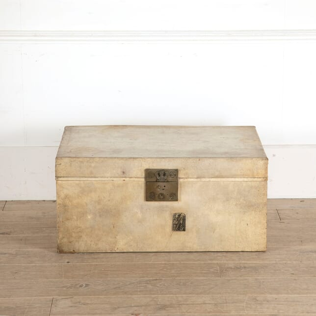 Cream Chinese Hide Trunk with Brass Hardware DA1311134