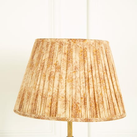 Cream with Pink and Amber Silk Lampshade LS669037