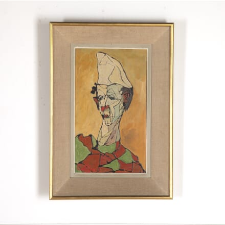 French Cubist Clown Painting WD3014451