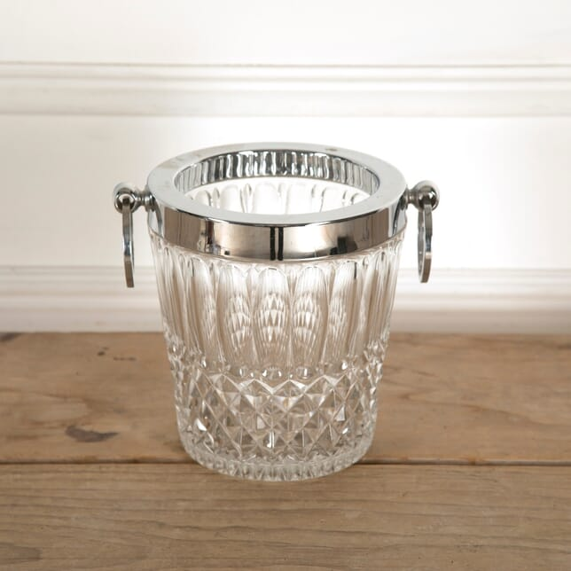 Cut Glass and Chrome Ice Bucket DA1311133