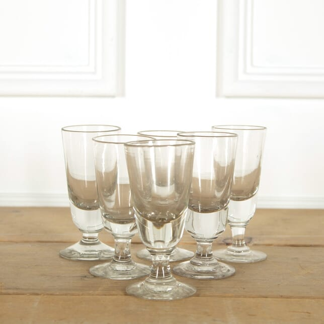 Set of Six French Cafe Glasses DA1356174