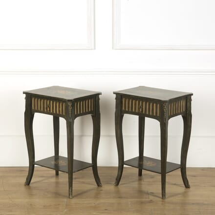 Decorated Pair of Bedside Tables BD039287