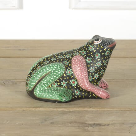 Decorative Hand Painted Mexican Talavera Pottery Frog DA599485