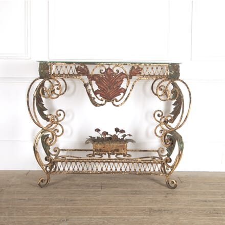 French Painted Iron Console Table CO3014448