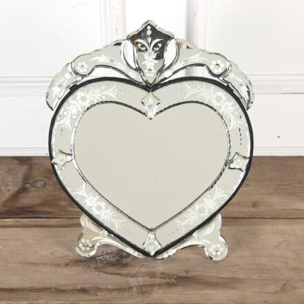 Venetian Bevelled Heart-Shaped Mirror MI5813844