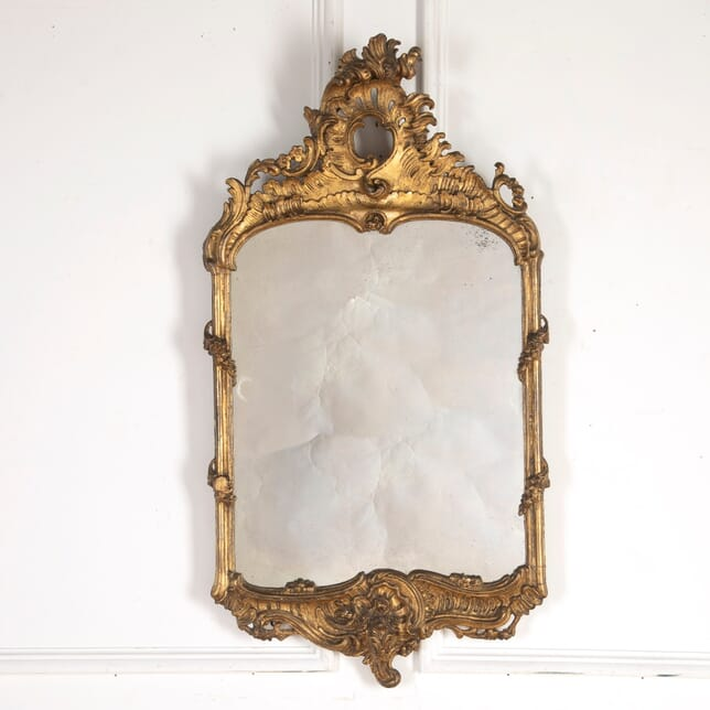 19th Century Carved and Gilded Gesso Mirror MI8014355