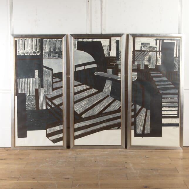 'Dockland' Triptych Panels WD4016729