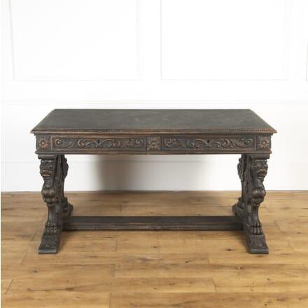 Swedish Carved Oak Desk DB8116842