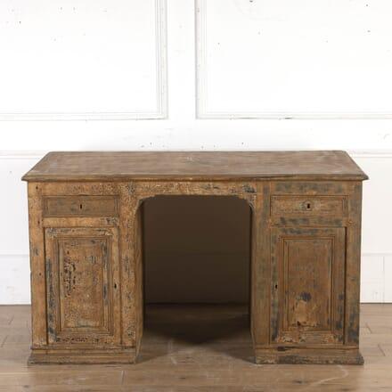 French Oak Dry-Scraped Partners' Desk DB8715303