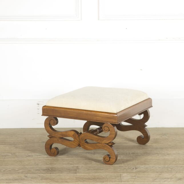 Early 19th Century English Rosewood X Form Stool ST889687