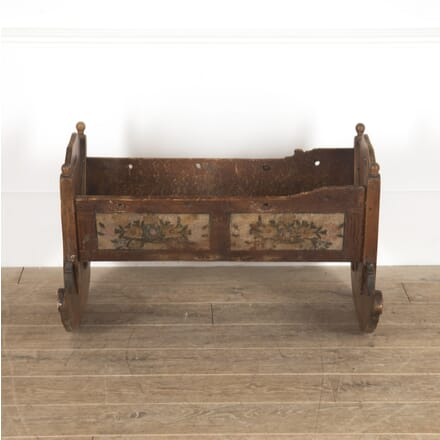 Early 19th Century Painted Bavarian Cradle OF1113286
