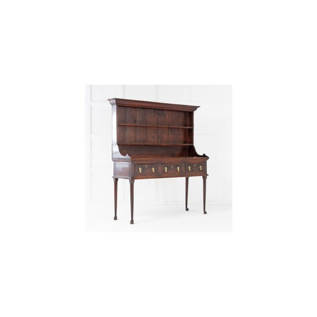 Early 19th Century Pine Dresser and Rack CU0615345