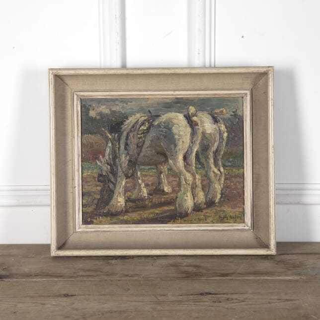 Early 20th Century Oil Painting of Shire Horses WD3610462