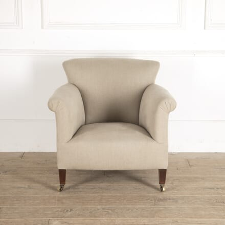 Early 20th Century Upholstered Howard Style Armchair CH0913566