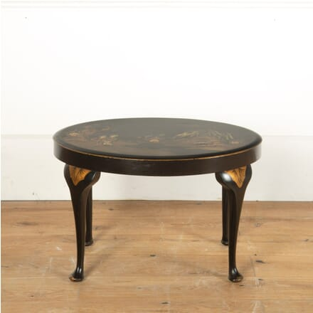 Ebonised Chinoiserie Side Table TC5911329