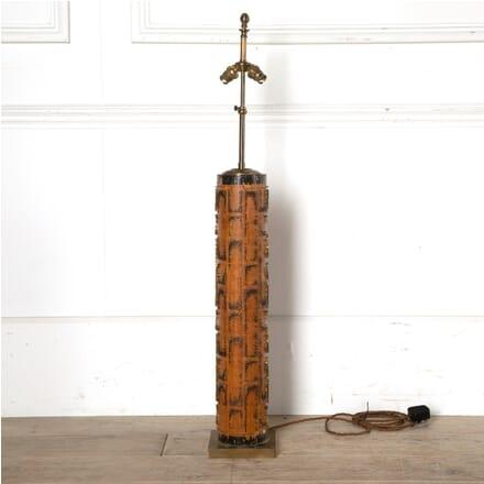 Ebonised Mahogany and Brass Standard Lamp LF219850