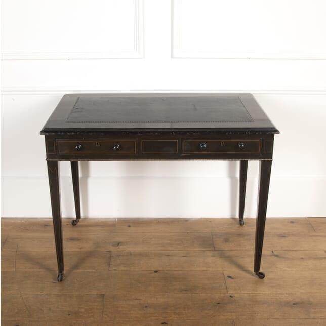 19th Century Ebonised Writing Table DB7316964