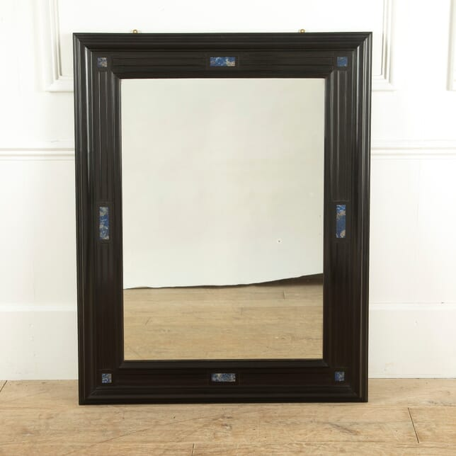 Ebony with Marble Inlaid Mirror MI5211449