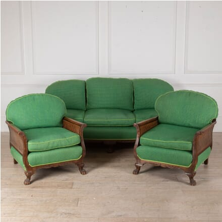 Edwardian Bergere Sofa and Pair of Armchairs SB2812154