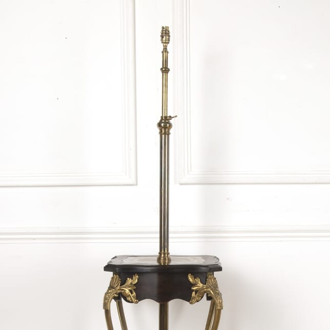 Edwardian Ebonised and Brass Floor Lamp/ Table LF2113783