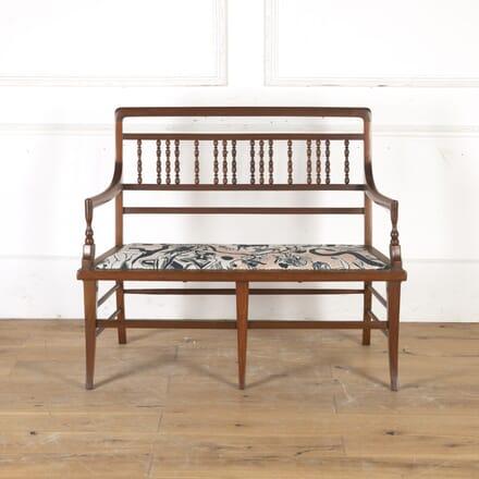 Edwardian Mahogany Bobbin-Back Sofa CH5915944