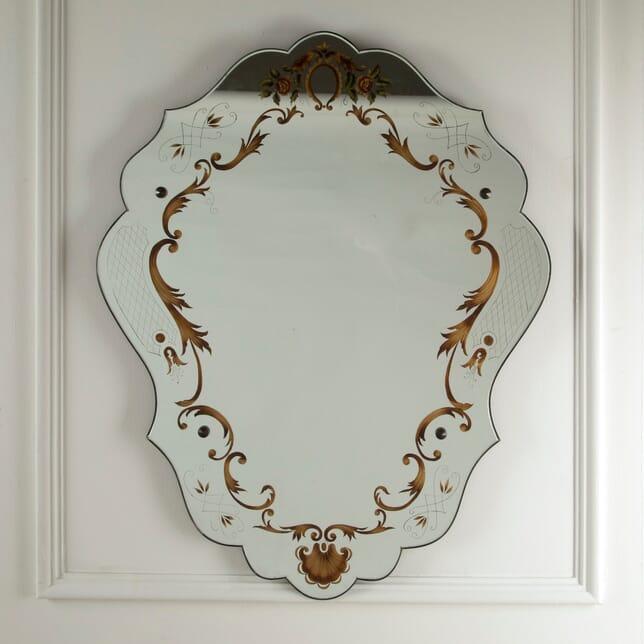 Eglomisé Shield Mirror MI3011310