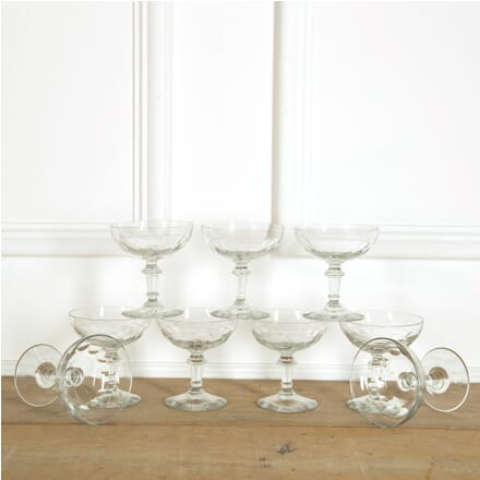 Eight Thumbnail Cut Champagne Coupes DA159100