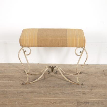 French Wrought-Iron Upholstered Stool ST3016297