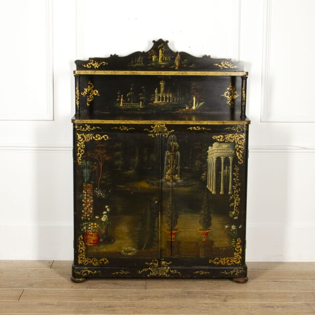 English 19th Century Painted Side Cabinet BU0817054