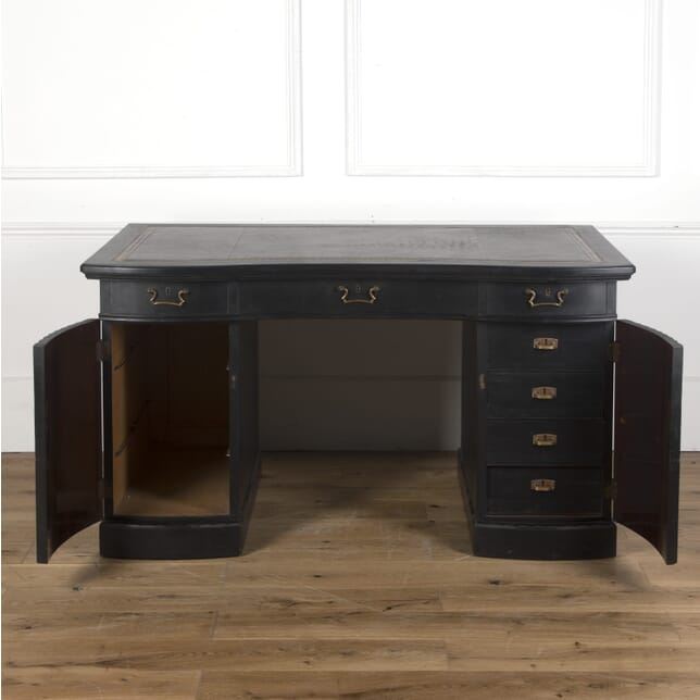 English Ebonised Pedestal Desk DB3610262