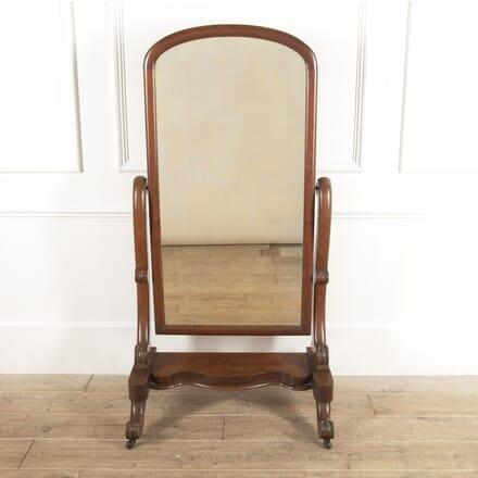 English 19th Century Mahogany Cheval Mirror MI8816483