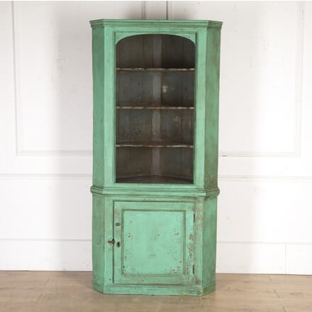 English 19th Century Painted Corner Cupboard CU3616414