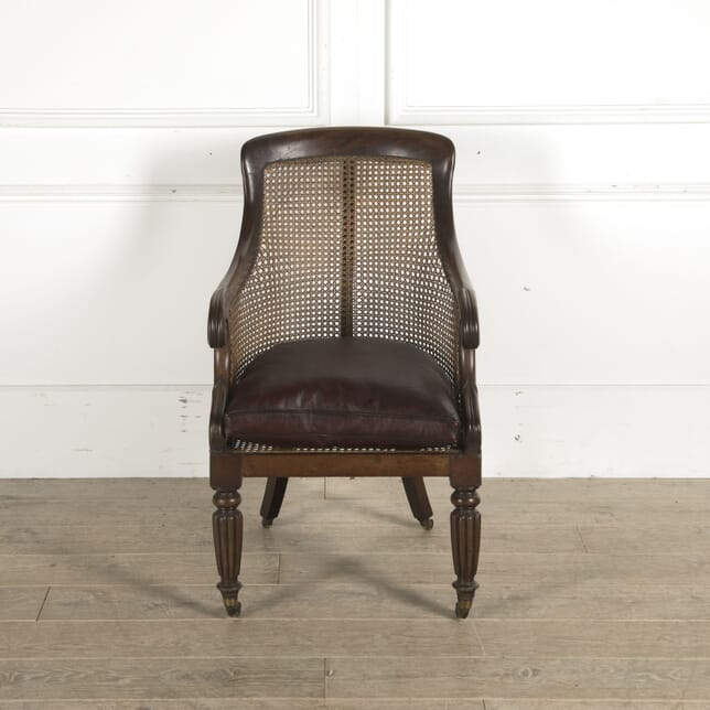 English Regency Caned Bergere Chair CH8810289