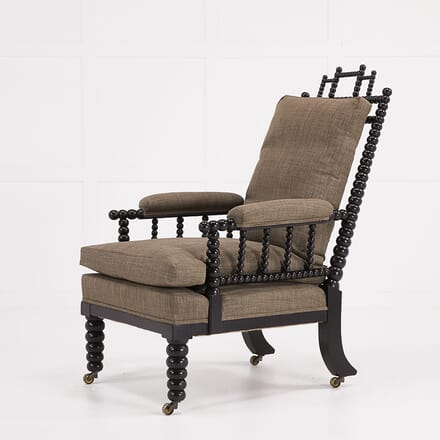 English Regency Ebonised Bobbin Armchair CH068927