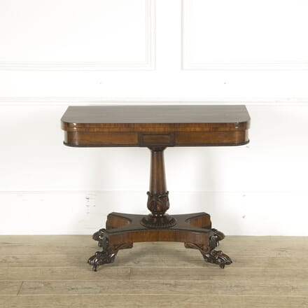 English William IV Rosewood Games Table TC889691
