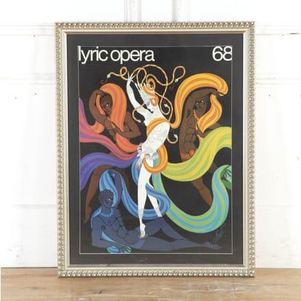 Lyric Opera Poster by Erté WD8715365